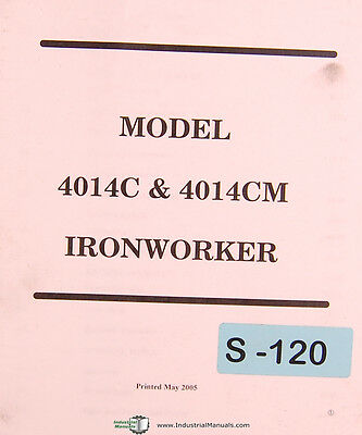 Scotchman 4014c 4014m Ironworker Operations And Parts Manual 2005