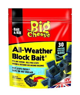 The Big Cheese All Weather Block Bait Pk30 (Pack of 6)