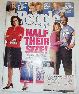 People Magazine Prince Wills   Harry January 2003 031215R