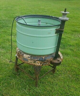 Vintage washing machine With Enamel Tub quirky trough planter pot