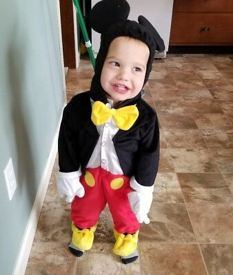 Disney Infant/Toddler Mickey Mouse Costume 6-9 Months Halloween Outfit - Mickey Mouse Halloween Outfit