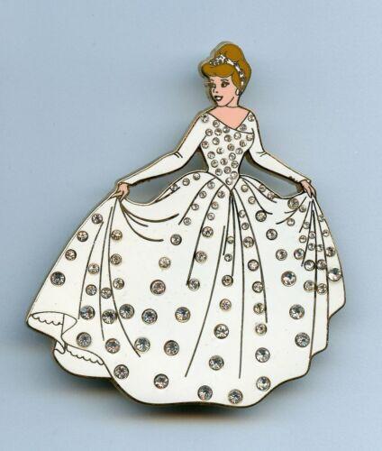 Disney Auctions Princess Cinderella Bride Wedding Day Pave Jumbo LE 100 Pin