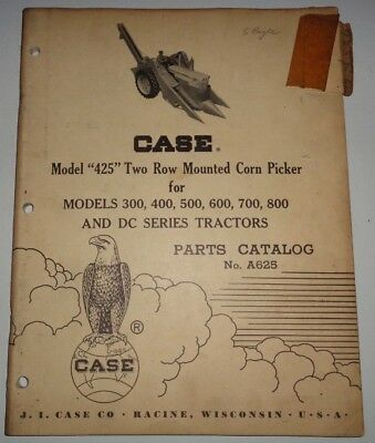 Case 425 Corn Picker Parts Catalog Fits 300 400 500 600 700 800 Dc Tractors