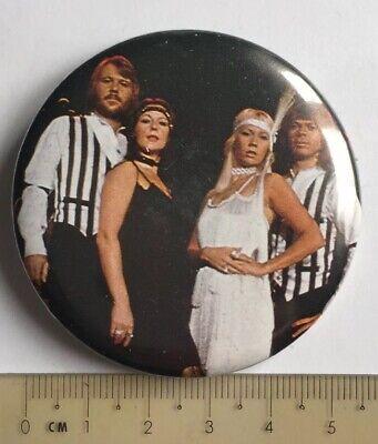 Vtg Og Abba 55mm Pin Badge Eurovision Old Stock 1970s Swedish Music Group