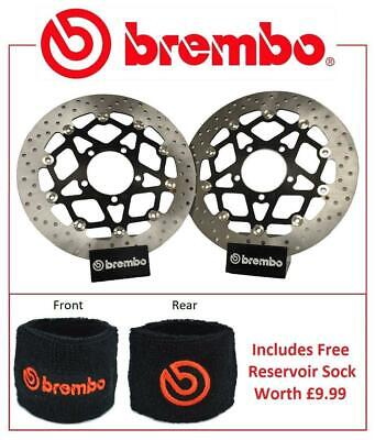 BREMBO FRONT BRAKE DISCS PAIR TRIUMPH 1050 SPEED TRIPLE R 14 15  RES