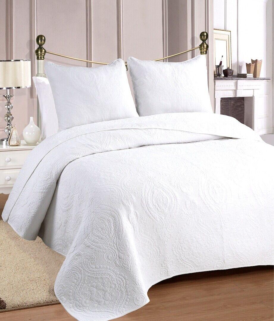 Medallion Reversible Cotton Quilt Set, Bedspreads, Coverlet