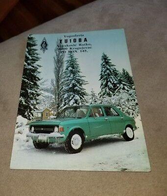 Vintage QSL card Postcard Yugoslavia Zastava Automobile Amateur Radio Station