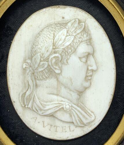Marble Glass Plaque Framed Vitellius Roman Emperor Foster Brothers Boston