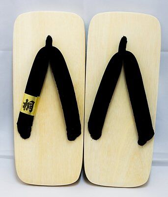 Geta Authentic Traditional Wooden Sandals Footwear with 2 Heels 30cm 2596
