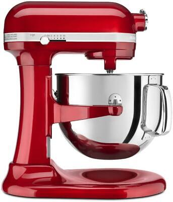 KitchenAid KSM7586PCA Pro Line 7 Quart Bowl-Lift Stand Mixer, Candy Apple Red