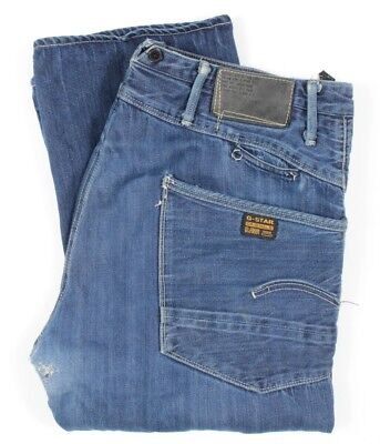 G-STAR RAW 3301 JUNE 2008 HANDCRAFTED SOFT BEAT UP SELVEDGE JEANS Sz 36 REPAIRED for sale  Shipping to India