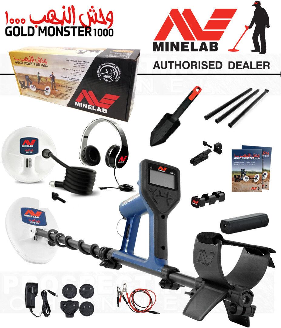 MINELAB GOLD MONSTER 1000 METAL DETECTOR 2 YEAR WARRANTY + Accessories