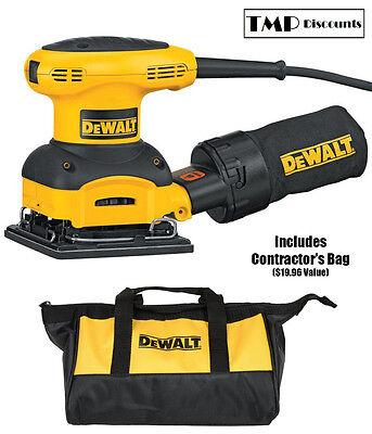 DeWALT D26441K 1/4 Sheet Palm Grip Sander Kit Cloth Dust-Bag & Contractor's Bag