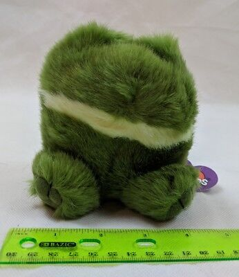 Puffkins Lily the Green Frog Plush Stuffed Swibco Retired VTG Toy w/ Tag