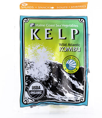 Organic Sea Kelp - Maine Coast Sea Vegetables - Kelp / Wild Atlantic Kombu - Organic Seaweed