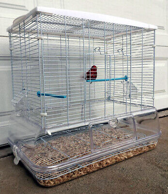 LARGE Clear Transparent Canary Parakeet Cockatiel LoveBird Finch Bird Cage