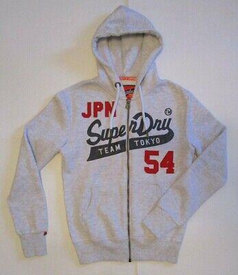Men's Superdry Heritage Classic Zip Hoodie, New Sweatshirt drawstring hood Sz S Heritage Zip Hoodie