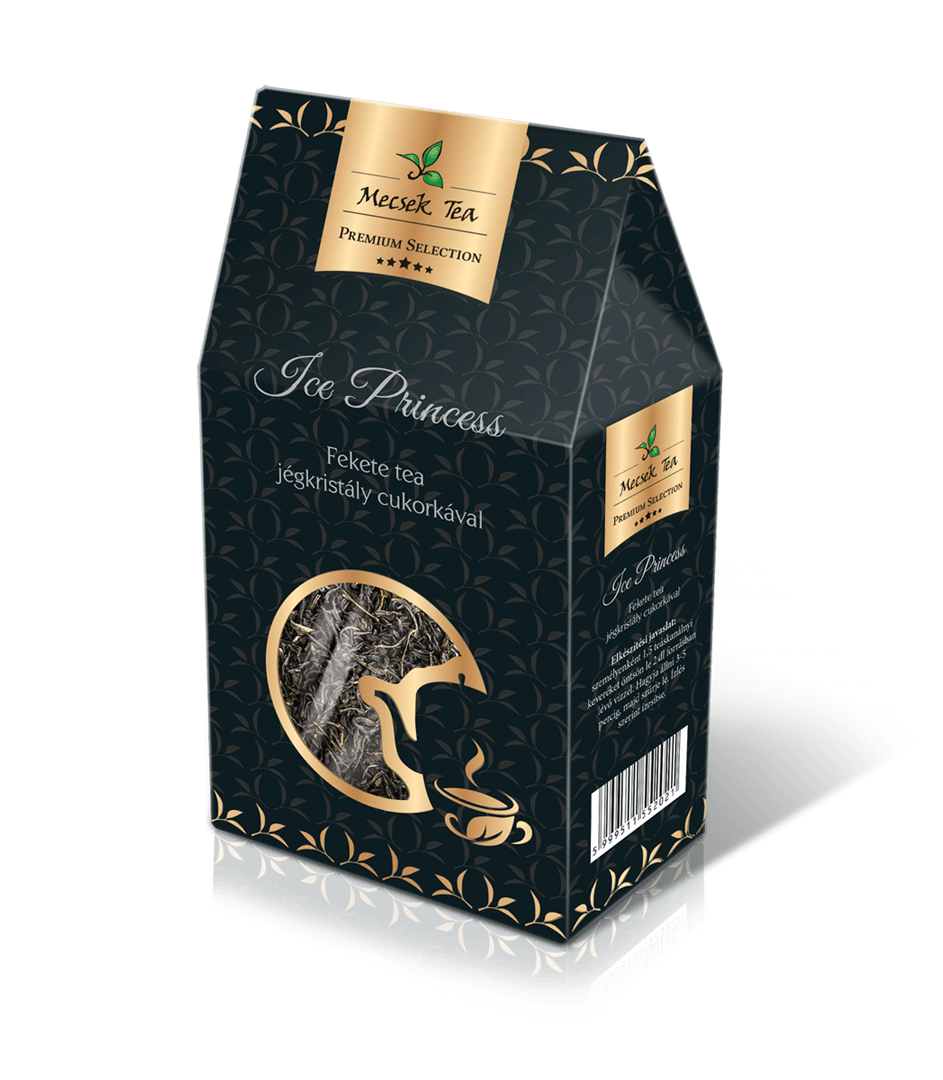 Ice Princess Premium Selection Black Herbal Tea Blend with Sugar Ice Crystals