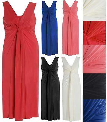 e griechischen Boob Knoten Promi-Panel-Maxi Kleid 44 - 54 (Griechische Frau Kleid)