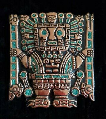 Large Tumi Wall Jewelry with Turquoise Stones / Face, *New