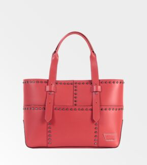 Leather Orange Studded iiiBeCa (Joy Gryson) Warren St Tote Bag Cammeray North Sydney Area Preview