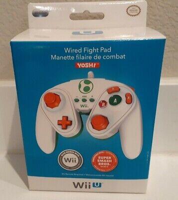 YOSHI - Nintendo Wii U / Wii  Wired Fight Pad Controller   New Sealed