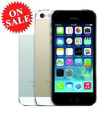 Apple iPhone 5S (Factory Unlocked) AT&T T-Mobile Verizon Gray Silver Gold 5 S 4