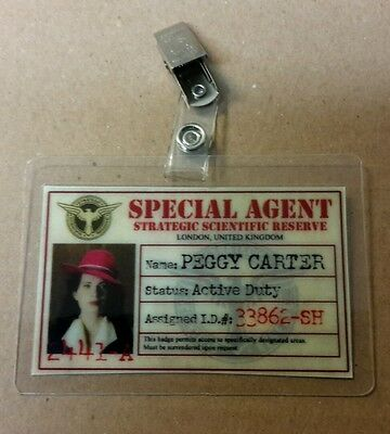 Agent Carter ID Badge -SSR Special Agent Peggy Carter cosplay prop costume hat - Special Agent Costume