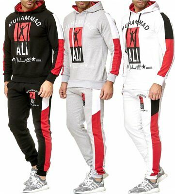 iProfash Herren Trainingsanzug/Muhammad Ali JOGGING SPORT Hose + Hoodie.Slimfit