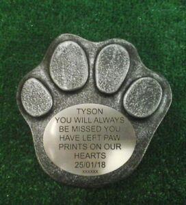 Dog Large Pet Memorial/headstone/stone/grave marker/memorial paw laminate  no 3