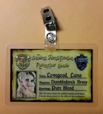 Harry Potter Id-Plakette - Ravenclaw Luna Lovegood Cosplay Requisite Kostüm