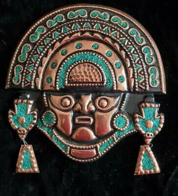 Large Tumi Wall Jewelry with Turquoise Stones / Face, New,