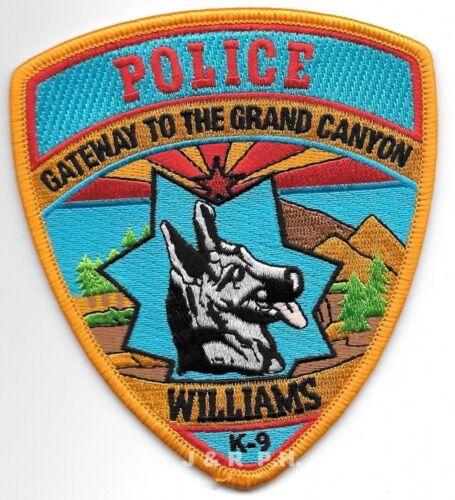 "Williams  K-9 Unit, Arizona (4"" x 4.5"" size) shoulder police patch (fire)"