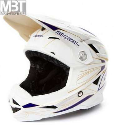 O'Neal Airtech Casco AT-1 Fullface Fidlock Blanco Oro Tamaño L BMX Downhill...