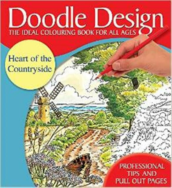 HEART OF THE COUNTRYSIDE COLOURING BOOK / DOODLE DESIGN NEW BOOK