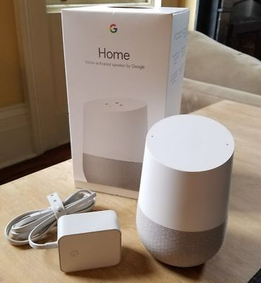 Google Home   White Slate Personal Assistant   New   Sealed   Works Worldwide