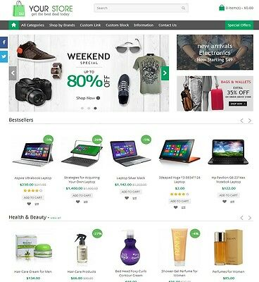 Online Shopstore Website - Multi Sellers Marketplace