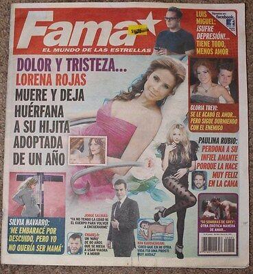 FAMA, REVISTA MEXICO, COMO TV NOVELAS, TV NOTAS, Lorena Rojas, Gloria Trevi