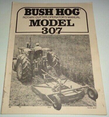 Bush Hog 307 Rotary Mower Cutter Operators Maintenance Assembly Manual Original