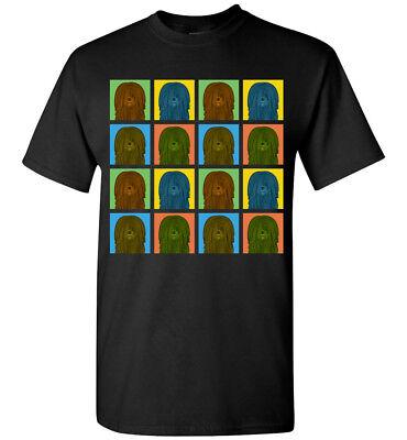 Puli Dog Cartoon Pop-Art T-Shirt Tee - Men Women's Youth Tank Short Long Sleeve (Dog Pop Art Tee T-shirt)