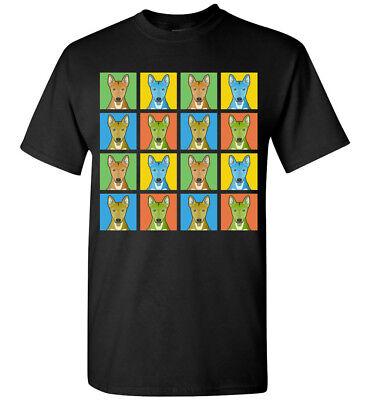 Carolina Dog Cartoon Pop-Art T-Shirt Tee, Men Women Youth Tank Short Long Sleeve (Dog Pop Art Tee T-shirt)