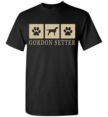 Gordon Setter Silhouette T-Shirt - Men, Women, Youth, Tank, Short, Long (Gordon Setter Silhouette)