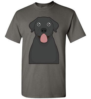 Black Labrador Retriever Cartoon T-Shirt Tee - Men Women Youth Tank Long Lab