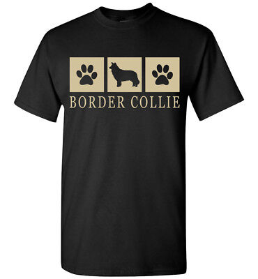 Border Collie Silhouette T-Shirt - Mens, Womens, Youth, Tank, Short, Long Sleeve