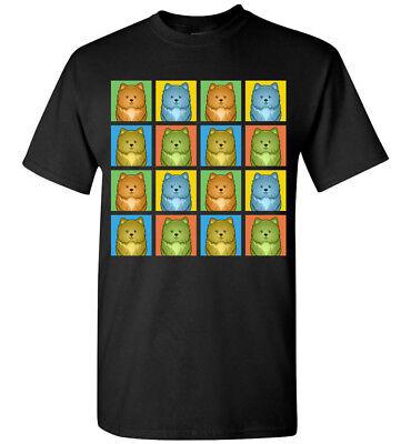 Pomapoo Dog Cartoon Pop-Art T-Shirt Tee, Men Women Youth Tank Short Long Sleeve (Dog Pop Art Tee T-shirt)