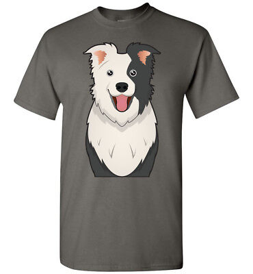 Border Collie Womens T-shirt (Border Collie Dog Cartoon T-Shirt Tee - Men Women Ladies Youth Tank Long)