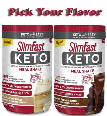 SlimFast Keto Meal Replacement Shake Powder, PICK YOUR FLAVOR (Best