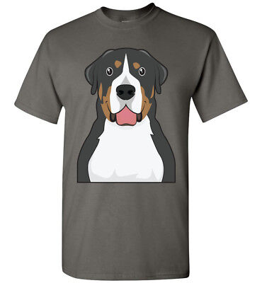 Greater Swiss Mountain Dog Cartoon T-Shirt Tee - Men Women Youth Kids Tank Long
