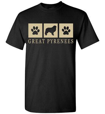 Great Pyrenees Silhouette T-Shirt - Men, Women, Youth, Tank, Short, Long (Great Pyrenees Silhouette)