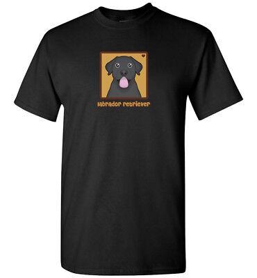 Black Labrador Retriever Cartoon T-Shirt, Men Women Youth Tank Short Long Sleeve